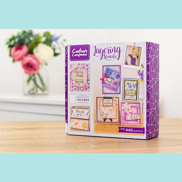 Crafter's Companion Craft Box Kit - Layering Stencil #20