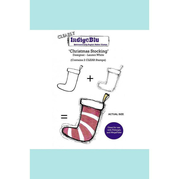 IndigoBlu Christmas Stocking (2 clear stamps) A6 by Lauren White - Clear