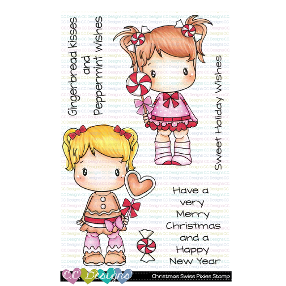 C.C. Designs - Christmas Swiss Pixie Stamp