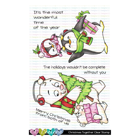 C.C. Designs -  New Christmas Together Stamp Set