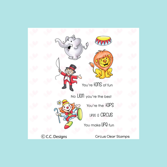 C.C. Designs Circus Clear Stamp