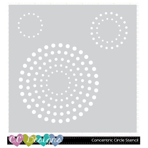 C.C. Designs - Concentric Circle Stencil
