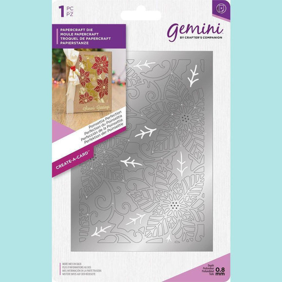 Crafter's Companion - Gemini Create-a-Card Metal Die - Poinsettia Perfection