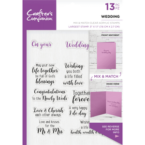 Crafter's Companion - Mix & Match Clear Stamps - Wedding