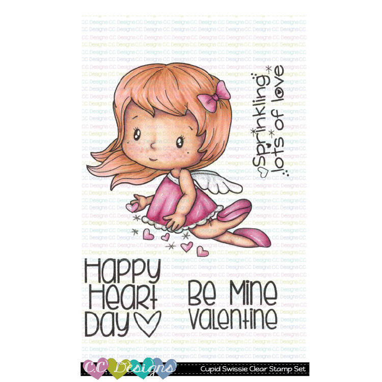 C.C. Designs - New Cupid Swissie Clear Stamp Set