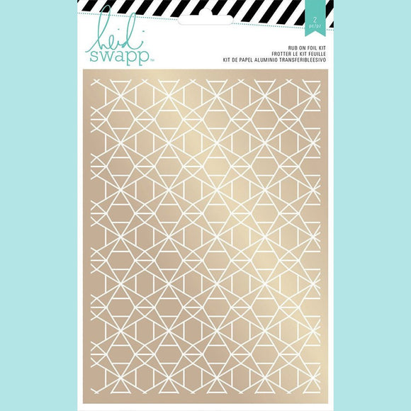American Crafts - Rub-on Foil Kits - HS - Wanderlust - Geometric