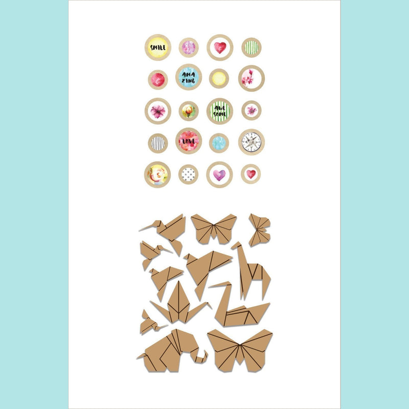 Altenew - Reflection Collection Epoxy Buttons & Wood Veneer Bundle