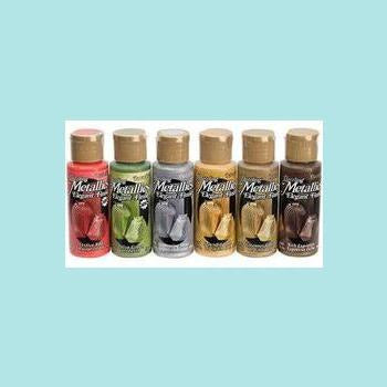 DecoArt Metallics paints - 6 pack