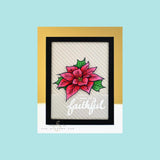 Altenew Poinsettia And Pine Stamps & Die Bundle