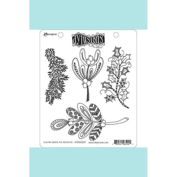 Dylusions Stamps - Kiss Me Under the Mistletoe
