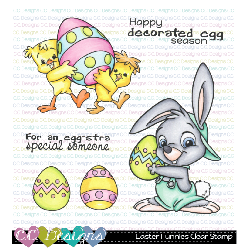 C.C. Designs - Easter Funnies Clear Stamp Set