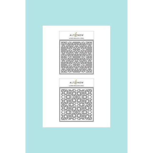 Altenew Layered Medallion A & B Stencil Bundle