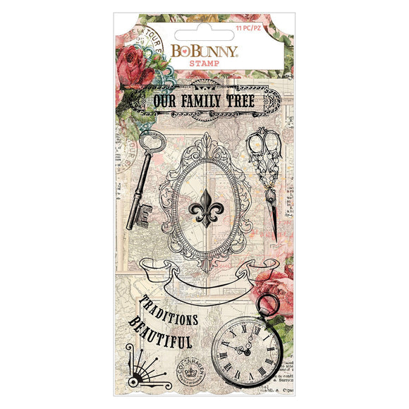 BoBunny - Family Heirlooms - Acrylic Stamp (11 pieces)