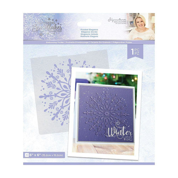 Crafter's Companion - Sara Signature - Glittering Snowflakes Embossing Folder 6