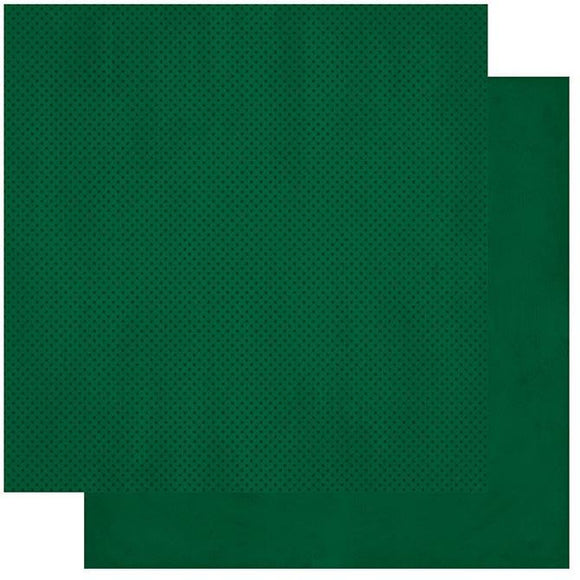 BoBunny - Double Dot - 12 X 12 - Evergreen Dot