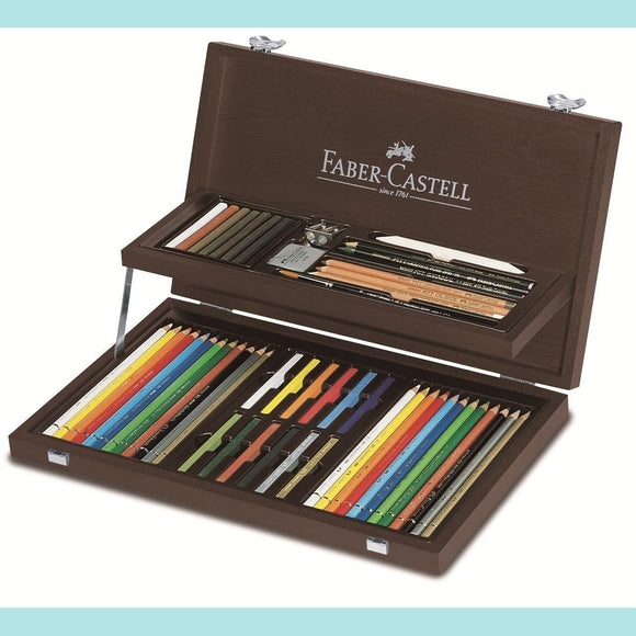 Faber-Castell - Art & Graphic Compendium - Wooden Case - 53 pieces