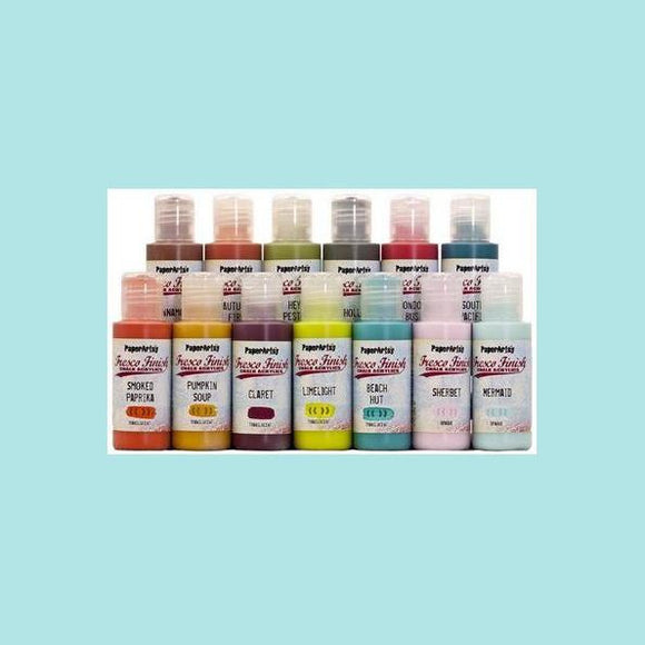 PaperArtsy - Fresco Acrylic Paints - matte acrylic paints