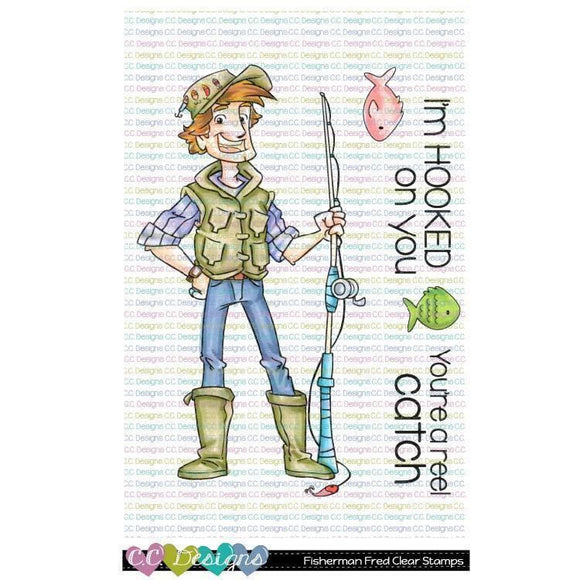 C.C. Designs - Fisherman Fred Clear Stamp Set