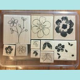 Stampin Up Flower Fancy -  Wood Mount