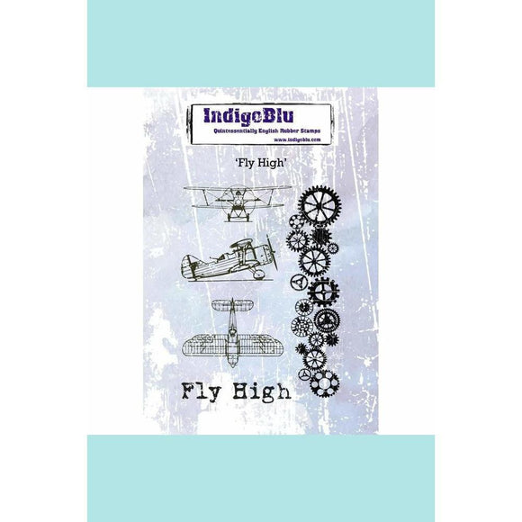 IndigoBlu Fly High A6 Red Rubber Stamp by Kay Halliwell-Sutton