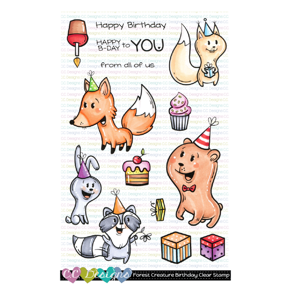 C.C. Designs - Forest Creatures Birthday Clear Stamps and Dies