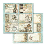 "Stamperia - Block 10 sheets 30.5x30.5 (12""""x12"""") Double Face Music"