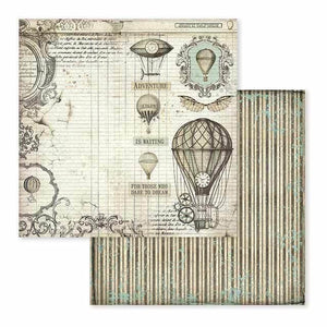 "Stamperia - Block 10 sheets 30.5x30.5 (12""x12"") Block 10 sheets 30.5x30.5 (12""x12"") Double Face Voyages Fantastiques"