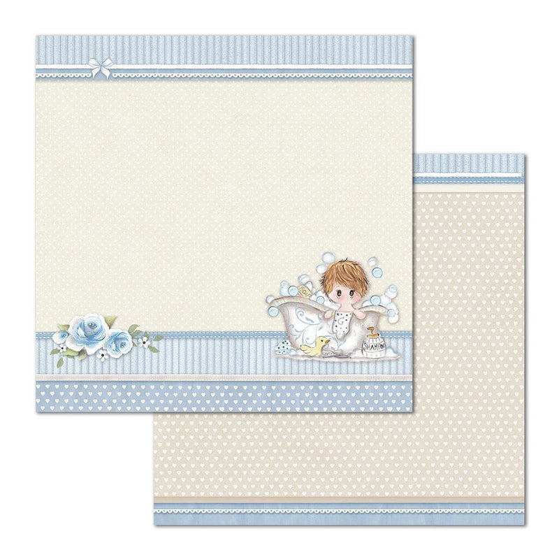 "Stamperia - Block 10 sheets 30.5x30.5 (12""x12"") Double Face Little Boy"