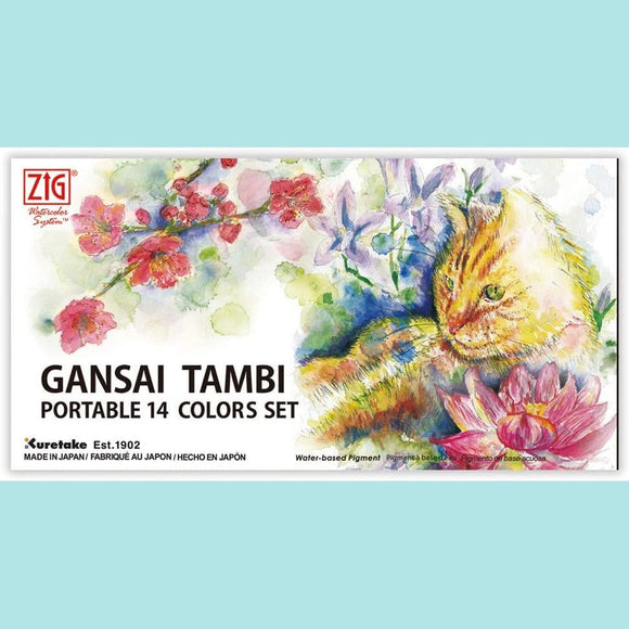 Kuretake - Gansai Tambi - Portable 14 WaterColors Set