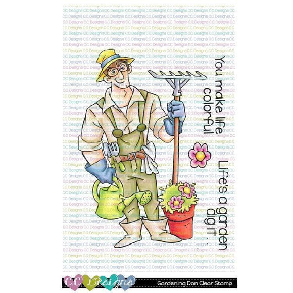 C.C. Designs - Gardening Don Clear Stamp Set