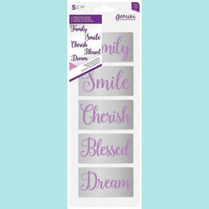 Crafter's Companion - Gemini Embossing Folder (5PC) - Inspirational Words 2