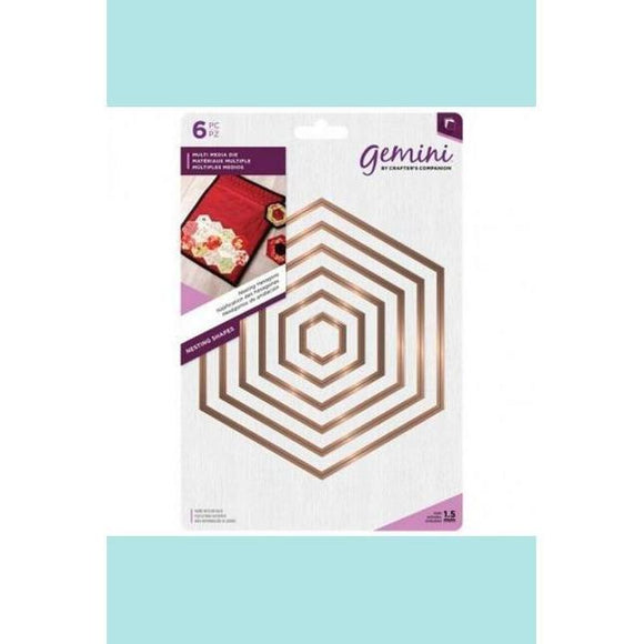 Crafters Companion - Gemini Multi Media Metal Die - Nesting Hexagons