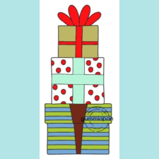 Gummiapan Gift Tower stamp