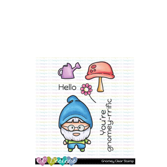C.C. Designs - Gnomey Clear Stamp Set
