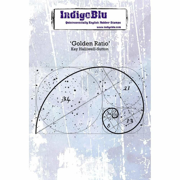 IndigoBlu Golden Ratio A6 Red Rubber Stamp