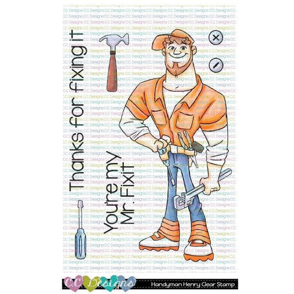 C.C. Designs - Handyman Henry Clear Stamp Set