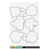 C.C. Designs - Happy Little Flowers Stamps and Outline Metal Die