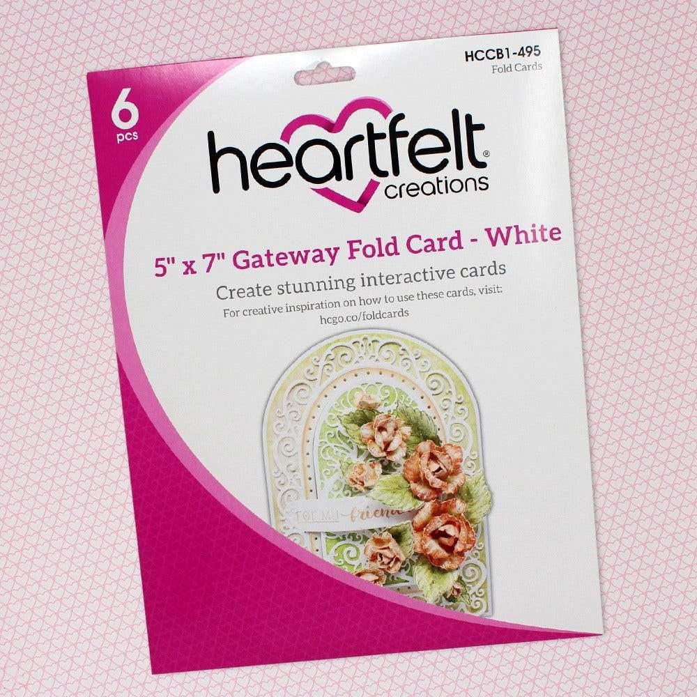 "Heartfelt Creations - 5"" x 7"" Gateway Fold Card - White"