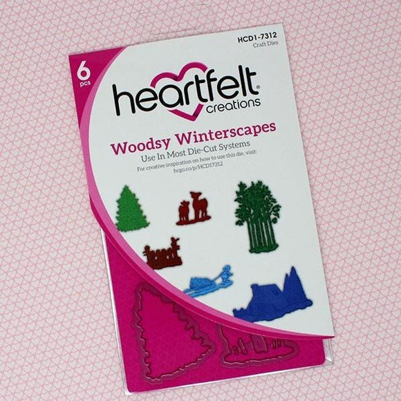 Heartfelt Creations - Woodsy Winterscapes Die