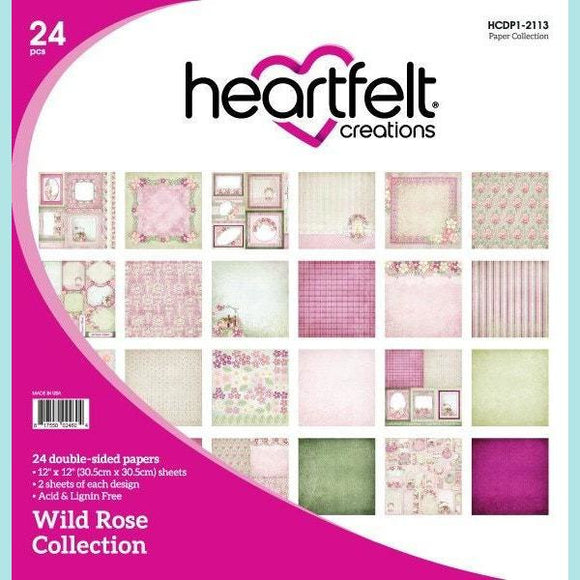 Heartfelt Creations - Wild Rose Paper Collection