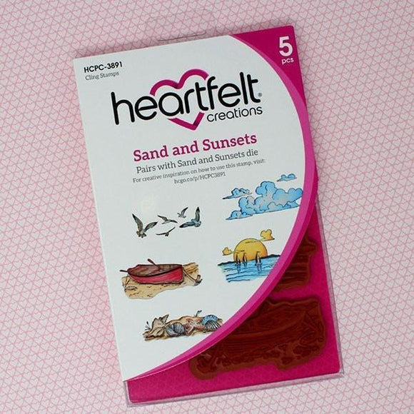 Heartfelt Creations - Sand and Sunsets Cling Stamp and Die Set