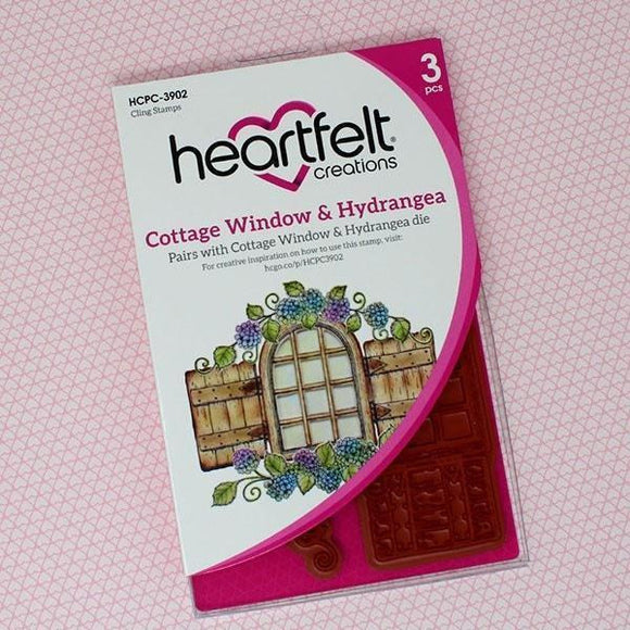 Heartfelt Creations - Cottage Window & Hydrangea Stamp and Die