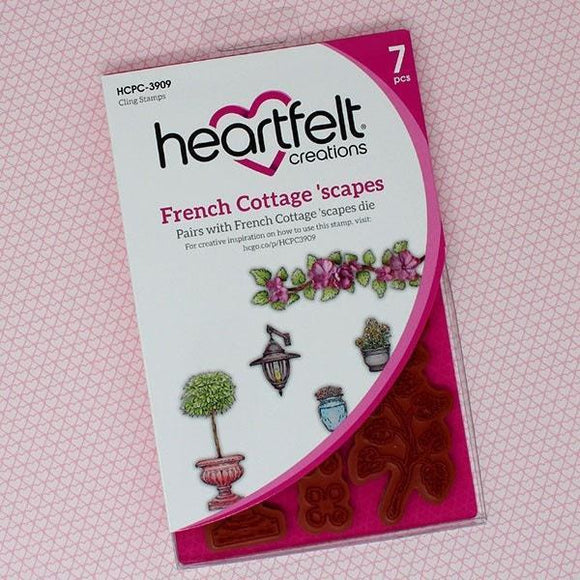 Heartfelt Creations - French Cottage 'scapes Cling Stamp Set