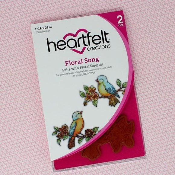 Heartfelt Creations - Floral Song Cling Stamp Set