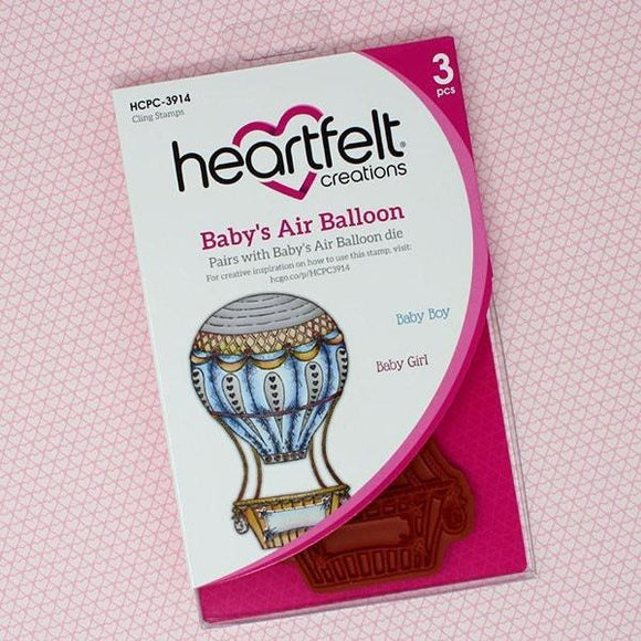 Heartfelt Creations - Baby's Air Balloon Cling Stamp Set