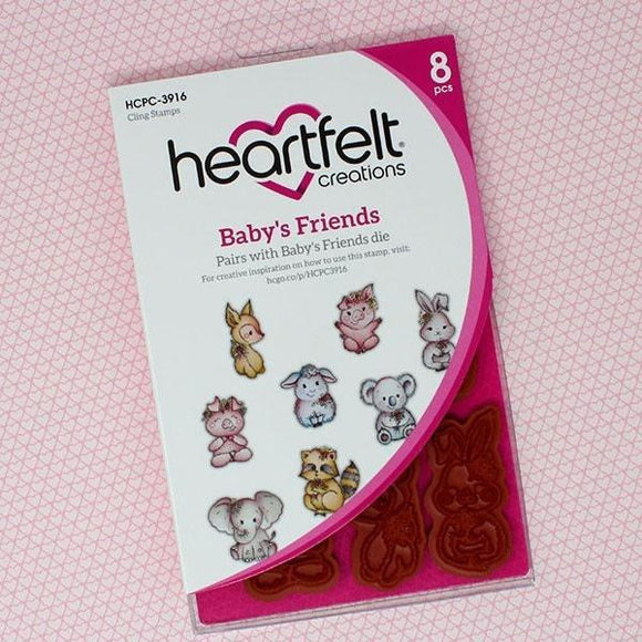 Heartfelt Creations - Baby's Friends Cling Stamp Set