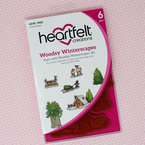 Heartfelt Creations - Woodsy Winterscapes Cling Stamp Set