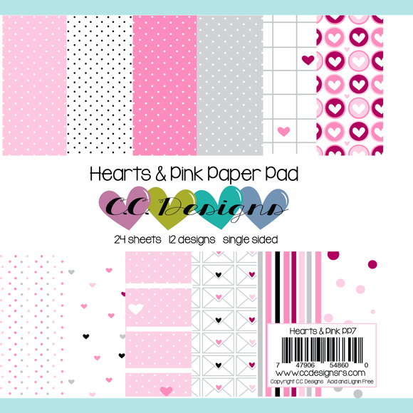 C.C. Designs - New Hearts & Pink Paper Pad