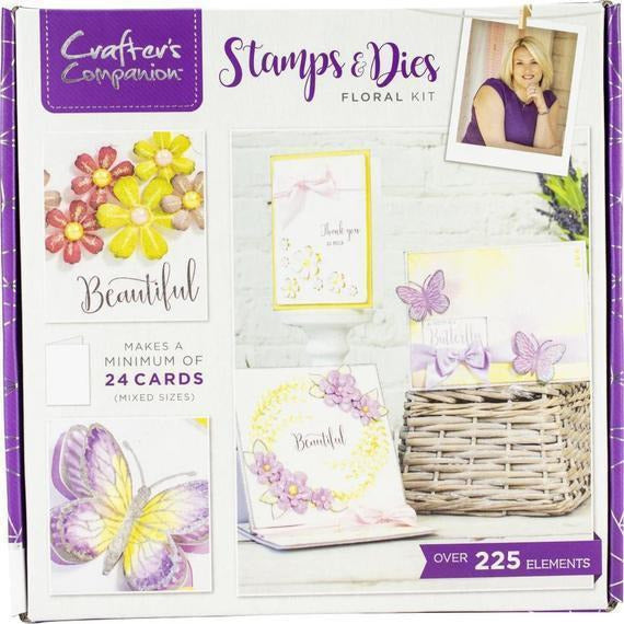 Crafter's Companion Craft Box Kit - Stamp & Dies Floral #12