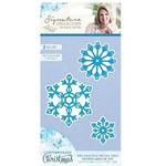 Crafter's Companion Contemporary Christmas Metal Die - Snowflakes of Joy